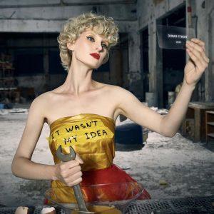 Epic Fool - ph Simone Nervi - muah Mara De Marco - styling Pro*Lab - model Jordana - ag The One
